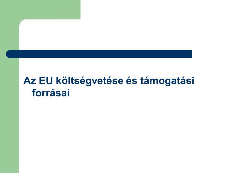 Az EU költségvetése és támogatási forrásai