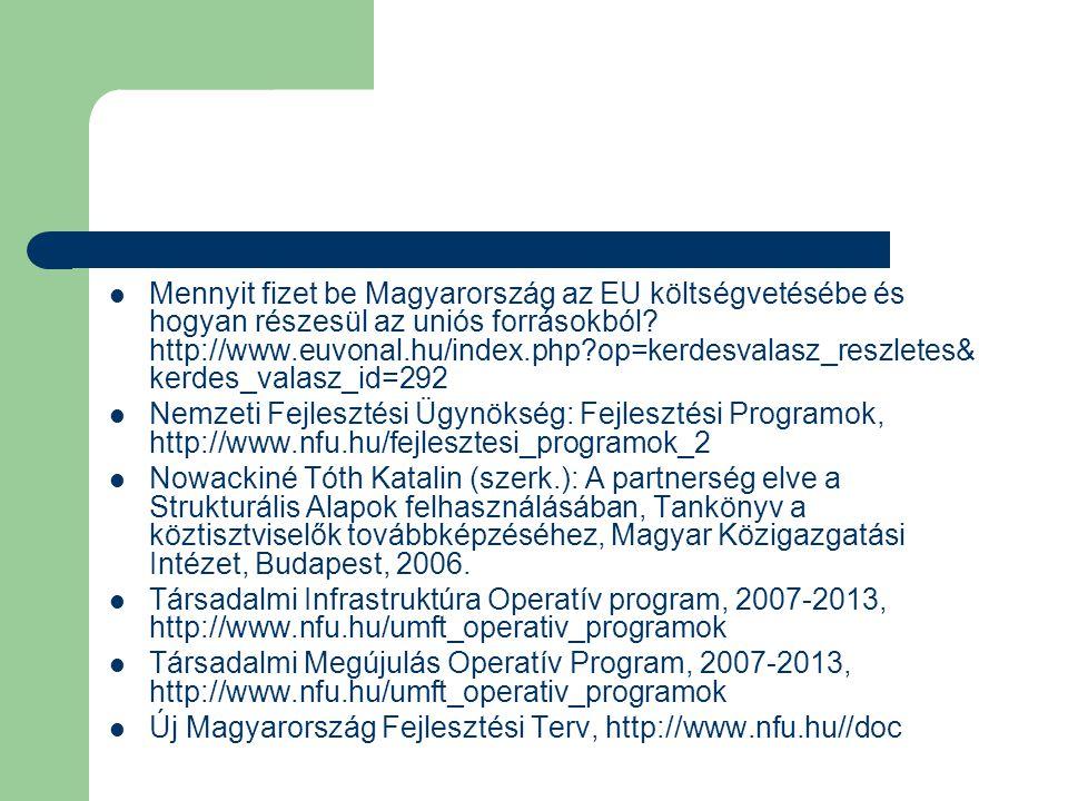 Mennyit fizet be Magyarország az EU költségvetésébe és hogyan részesül az uniós forrásokból.