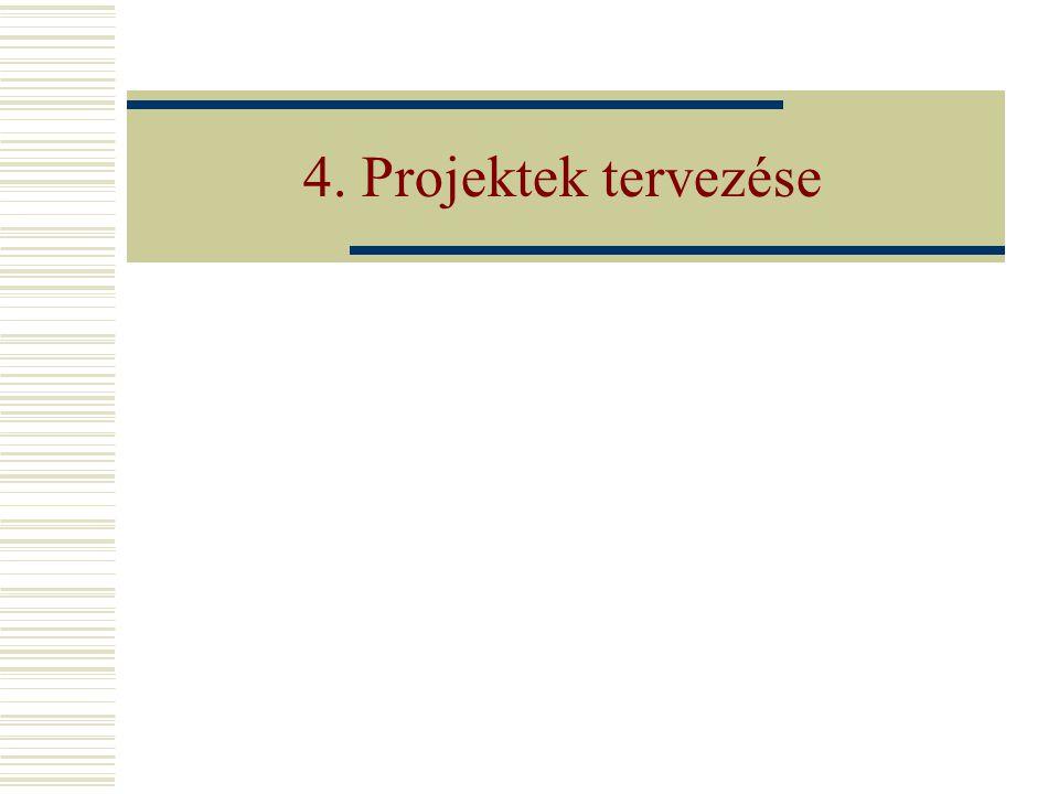 4. Projektek tervezése