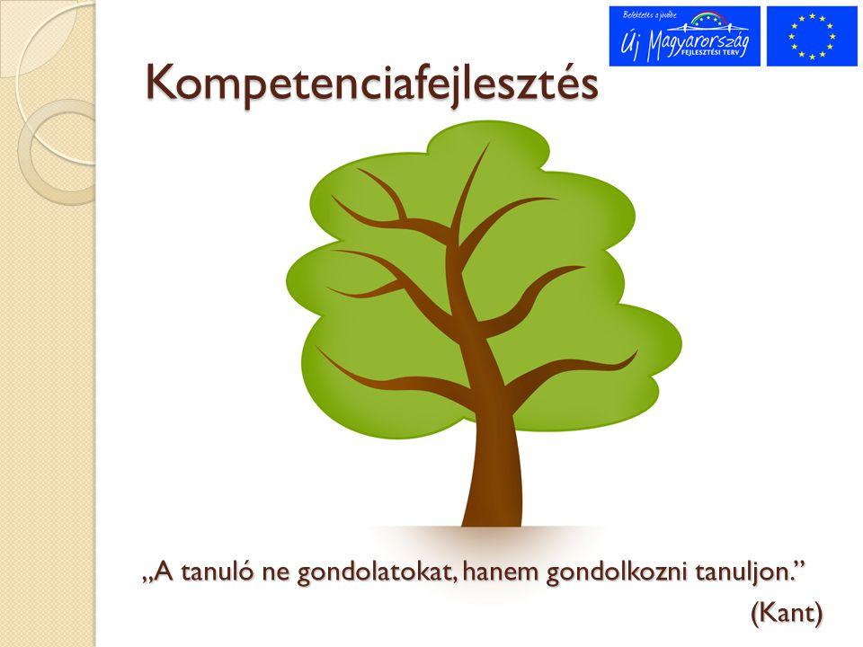 """""""A tanuló ne gondolatokat, hanem gondolkozni tanuljon."""" (Kant) Kompetenciafejlesztés"""