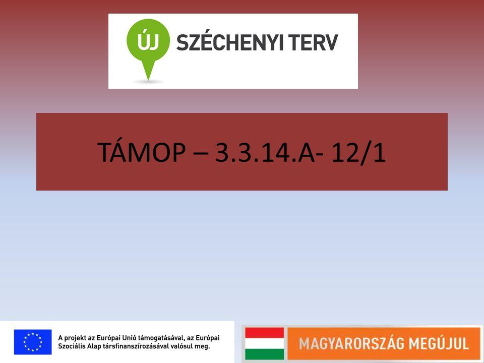 TÁMOP – 3.3.14.A- 12/1