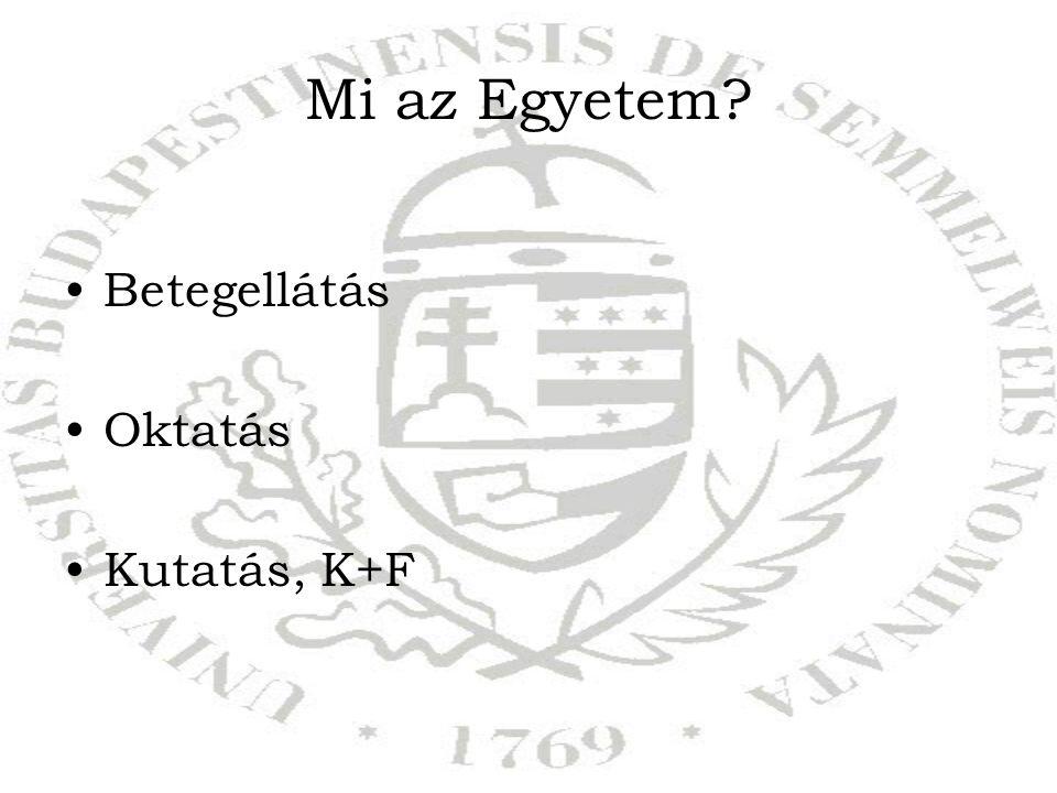 Mi az Egyetem Betegellátás Oktatás Kutatás, K+F