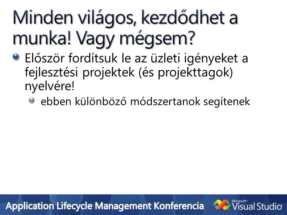Először fordítsuk le az üzleti igényeket a fejlesztési projektek (és projekttagok) nyelvére.