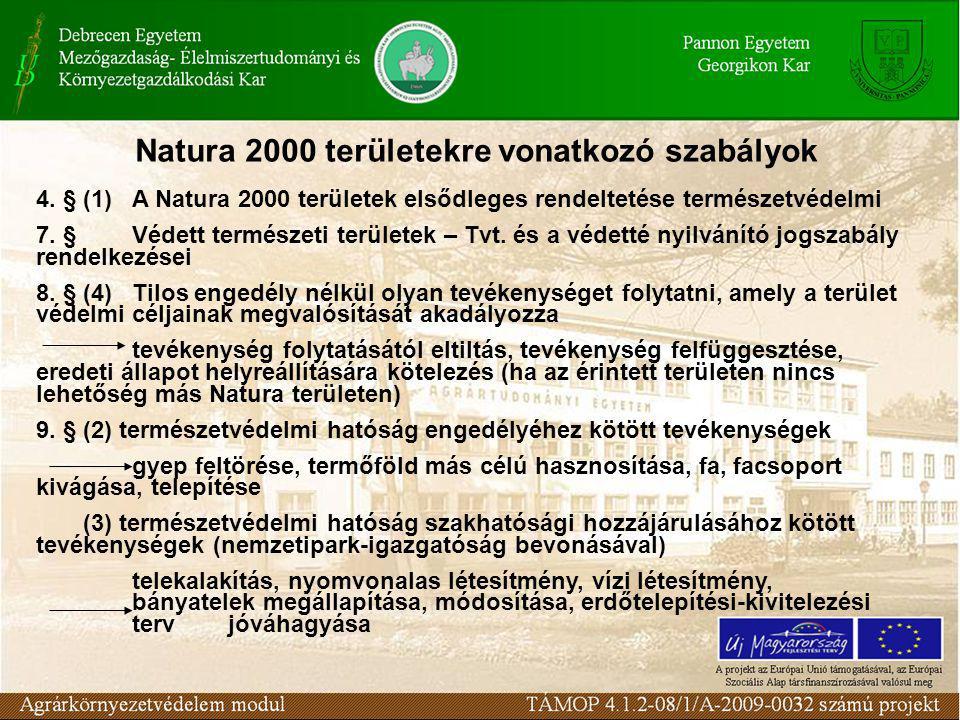 Natura 2000 területekre vonatkozó szabályok 4.