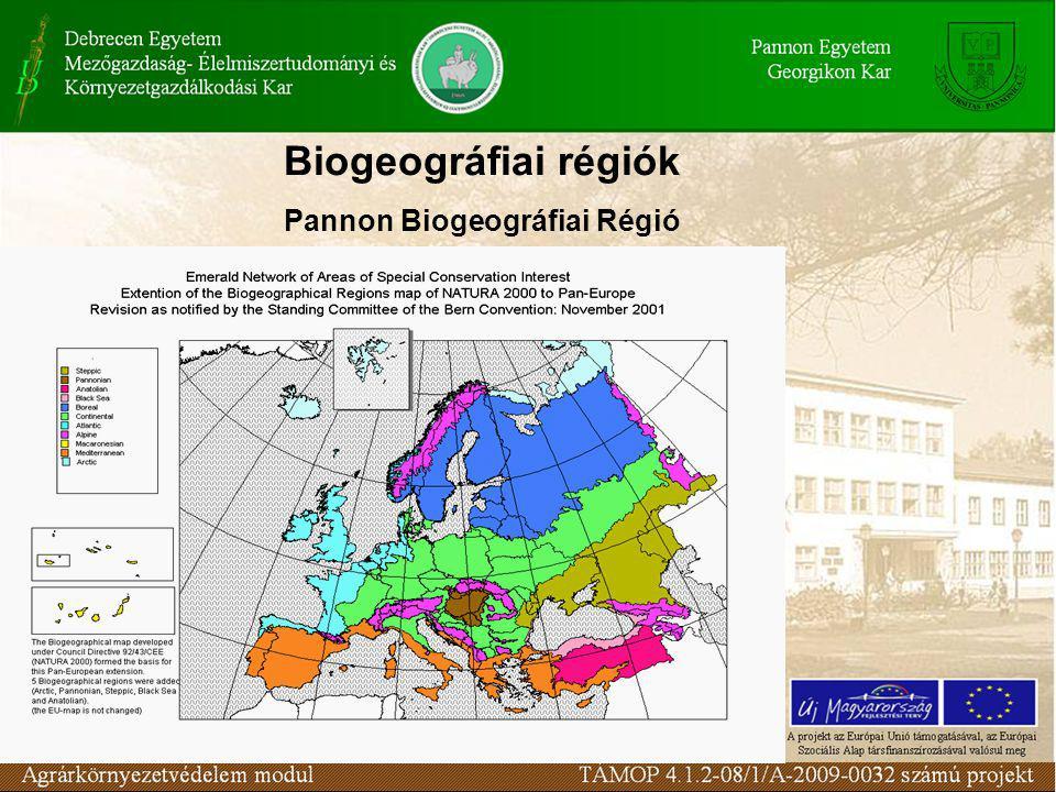 Biogeográfiai régiók Pannon Biogeográfiai Régió