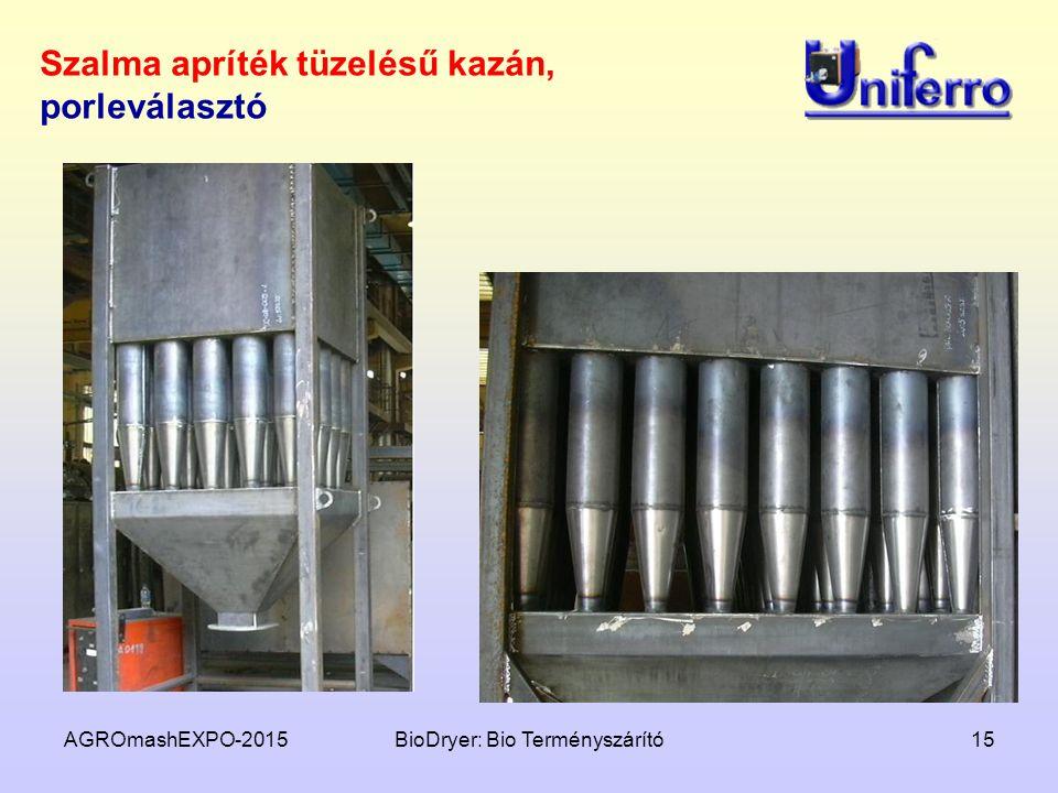 AGROmashEXPO-2015BioDryer: Bio Terményszárító15 Szalma apríték tüzelésű kazán, porleválasztó