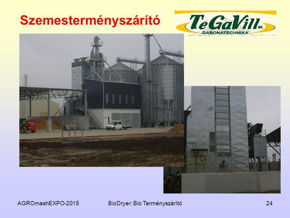 Szemesterményszárító AGROmashEXPO-2015BioDryer: Bio Terményszárító24