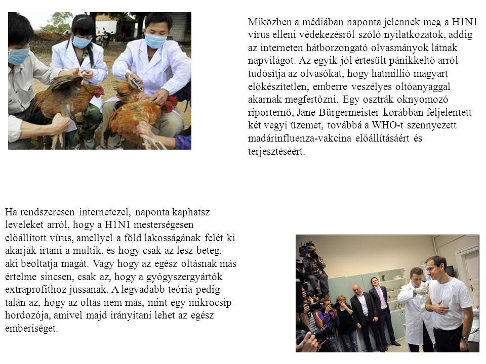 Miközben a médiában naponta jelennek meg a H1N1 vírus elleni védekezésről szóló nyilatkozatok, addig az interneten hátborzongató olvasmányok látnak na