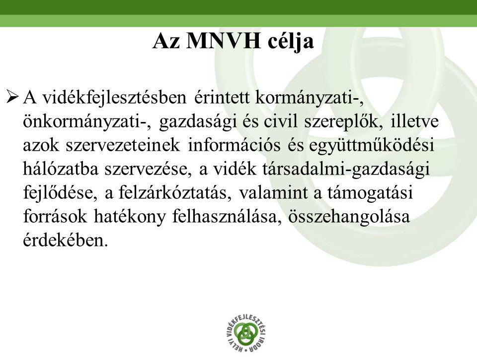  A vidékfejlesztésben érintett kormányzati-, önkormányzati-, gazdasági és civil szereplők, illetve azok szervezeteinek információs és együttműködési