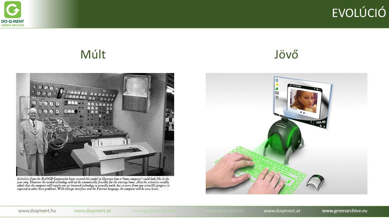 -beruházás mentes igénybevétel havi díj ellenében ( mobil szolgáltatás ) -nagyobb mennyiség esetében egyedi árképzés ( oldal, adat, időbélyeg, tárhely ) -bárhonnan, bármikor elérhető EREDETI dokumentumok ( IBM biztonság ) www.doqment.huwww.doqment.atwww.greenarchive.euwww.doqment.huwww.doqment.atwww.greenarchive.eu Milyen előnyökkel jár a szolgáltatás: