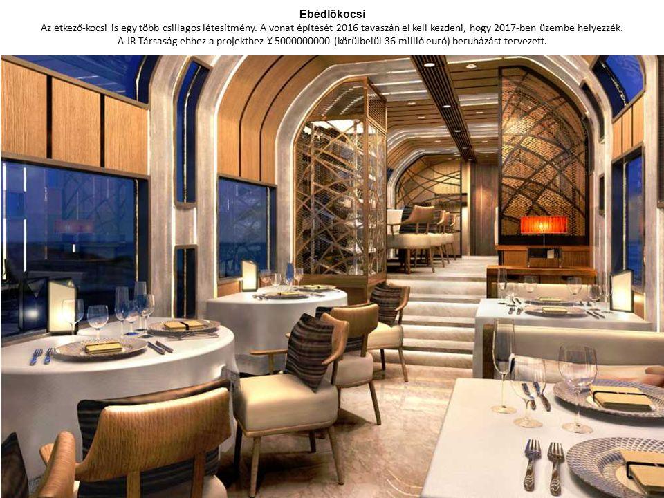 Ebédlőkocsi Az étkező-kocsi is egy több csillagos létesítmény.