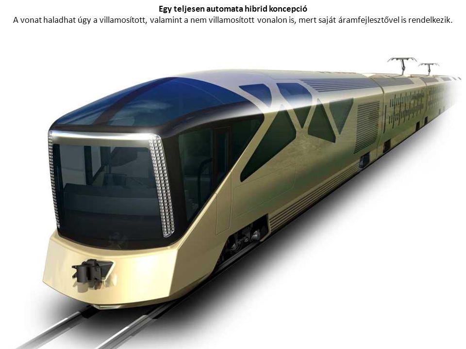 Egy teljesen automata hibrid koncepció A vonat haladhat úgy a villamosított, valamint a nem villamosított vonalon is, mert saját áramfejlesztővel is rendelkezik.
