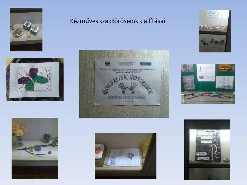 Kézműves szakköröseink kiállításai