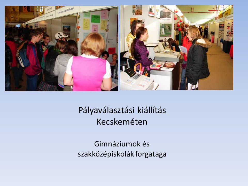 Pályaválasztási kiállítás Kecskeméten Gimnáziumok és szakközépiskolák forgataga
