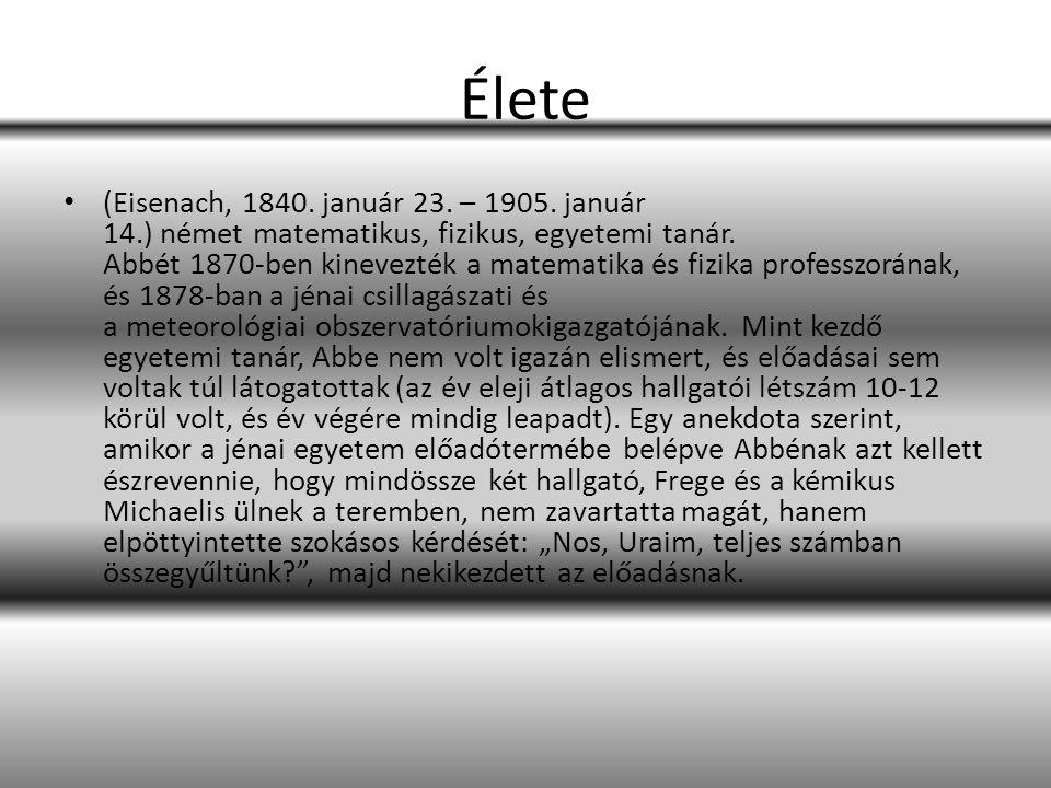 Élete (Eisenach, 1840. január 23. – 1905. január 14.) német matematikus, fizikus, egyetemi tanár.