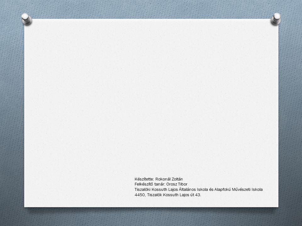 A kedvenc mobilom Készítette: Rokonál Zoltán Felkészítő tanár: Orosz Tibor Tiszalöki Kossuth Lajos Általános Iskola és Alapfokú Művészeti Iskola 4450,