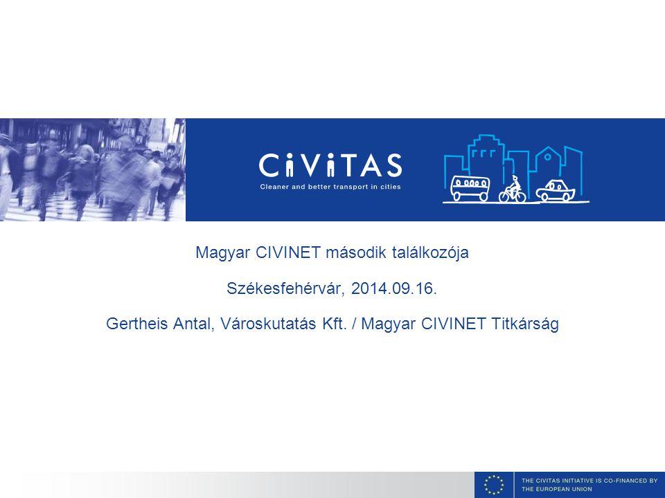 Magyar CIVINET második találkozója Székesfehérvár, 2014.09.16. Gertheis Antal, Városkutatás Kft. / Magyar CIVINET Titkárság