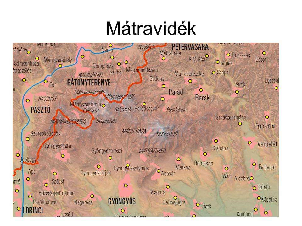 Földrajzi helyzete: –Tarna és a Zagyva völgyétől körbefogva terül el –Egyenlítőtől 47 fok 45 perc és 48 fok földrajzi szélesség között helyezkedik el.