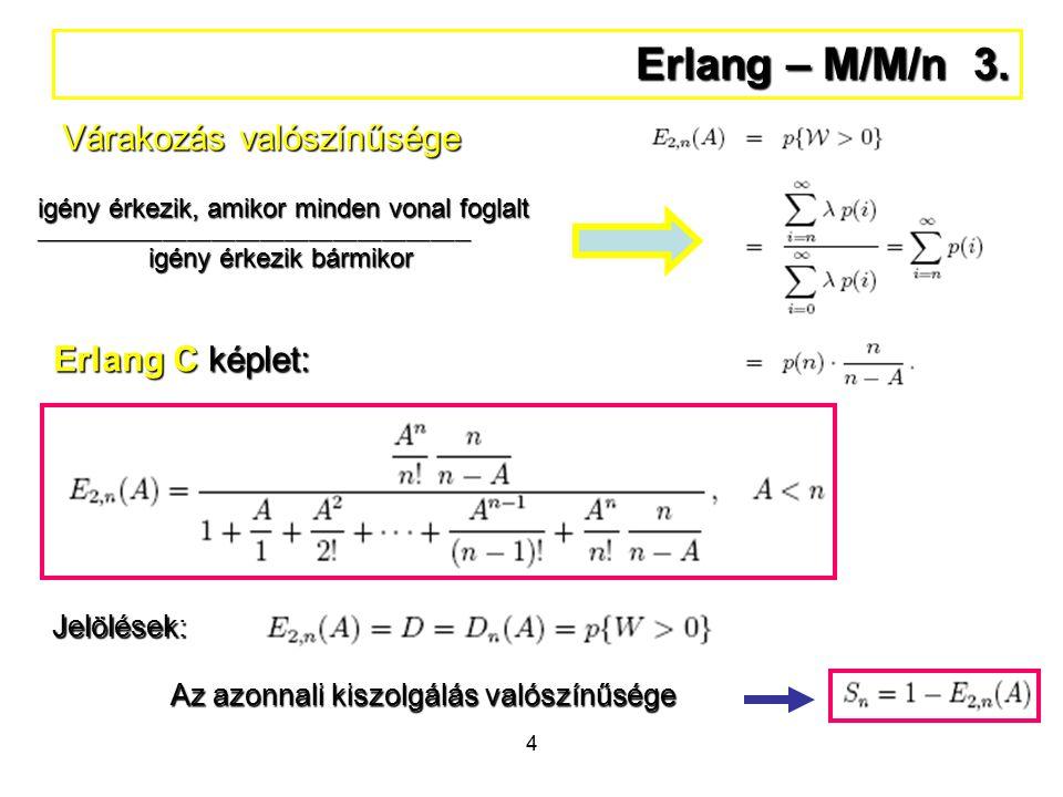 4 Erlang – M/M/n 3.