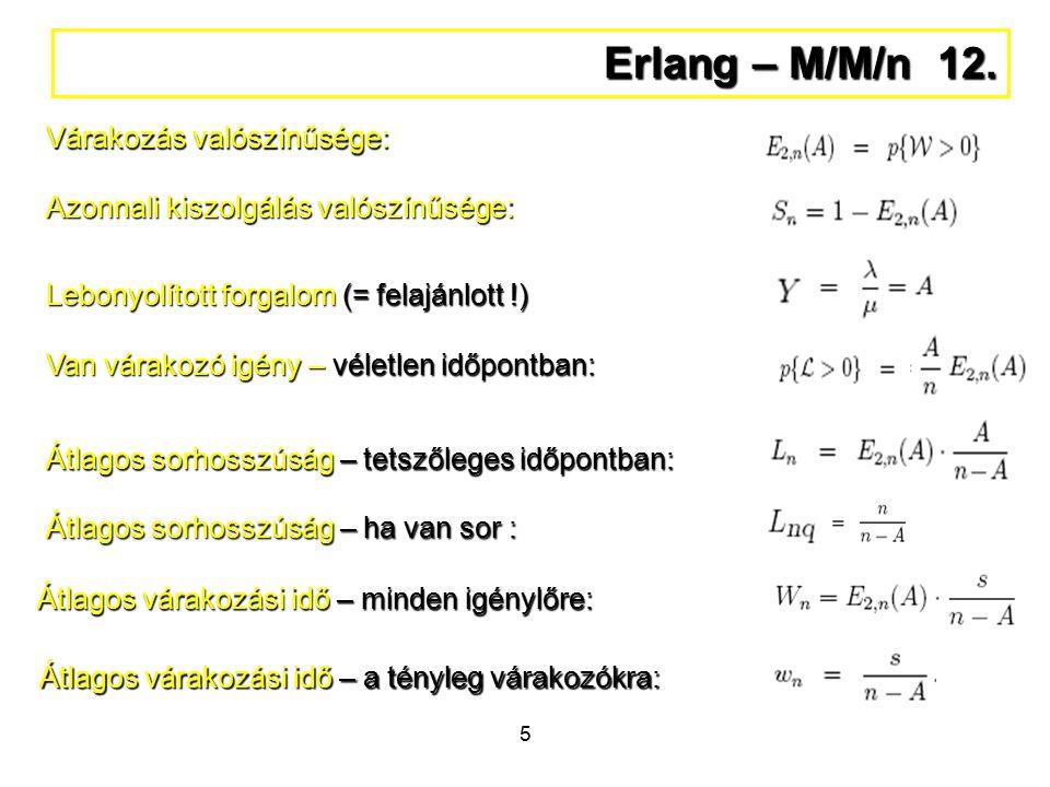 5 Erlang – M/M/n 12.
