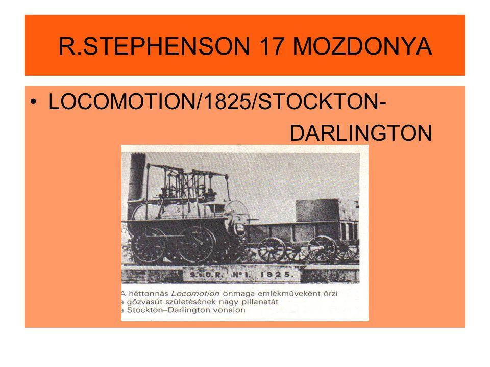 R.STEPHENSON 17 MOZDONYA LOCOMOTION/1825/STOCKTON- DARLINGTON
