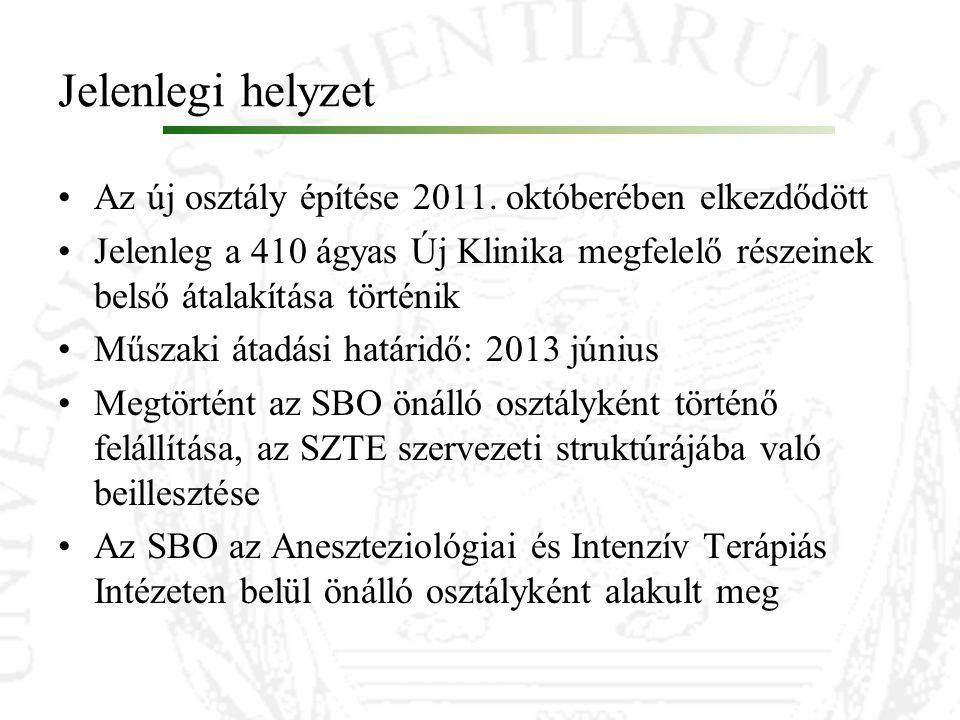 Jelenlegi helyzet Az új osztály építése 2011. októberében elkezdődött Jelenleg a 410 ágyas Új Klinika megfelelő részeinek belső átalakítása történik M