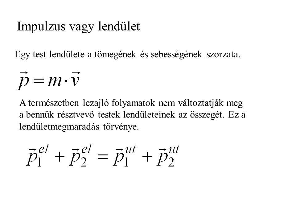 Tömegközéppont Szimmetrikus, homogén anyagból készült test tömegközéppontja a szimmetria középpont.