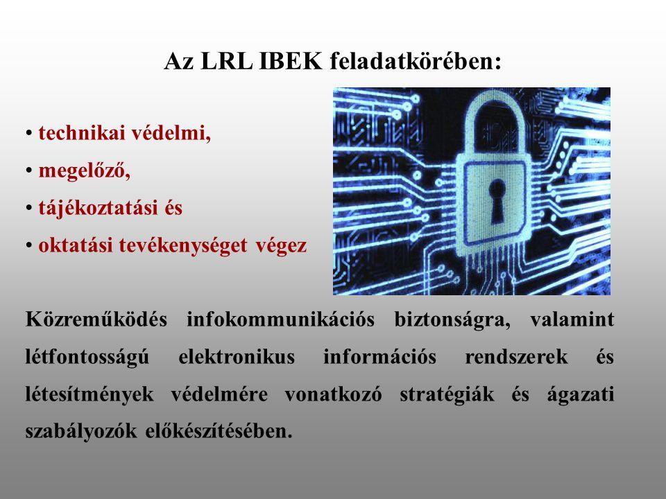 Az LRL IBEK feladatkörében: technikai védelmi, megelőző, tájékoztatási és oktatási tevékenységet végez Közreműködés infokommunikációs biztonságra, valamint létfontosságú elektronikus információs rendszerek és létesítmények védelmére vonatkozó stratégiák és ágazati szabályozók előkészítésében.