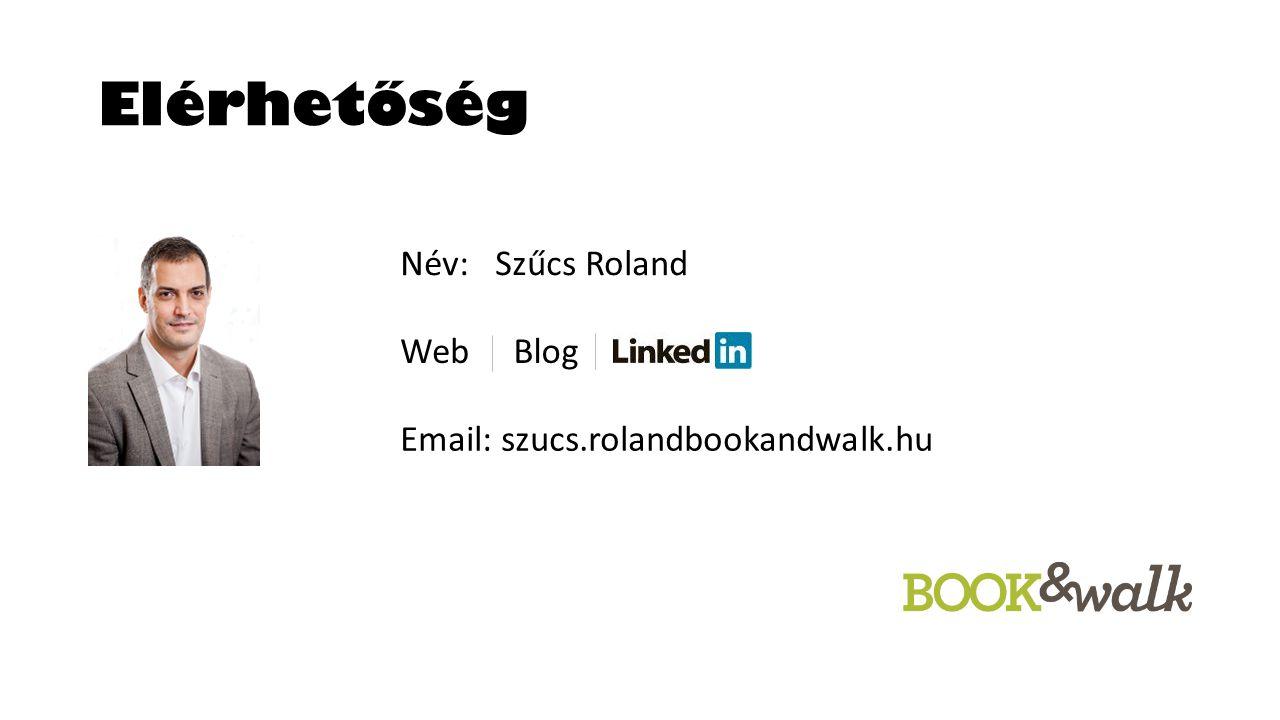 Elérhetőség Név: Szűcs Roland BlogWeb Email: szucs.rolandbookandwalk.hu