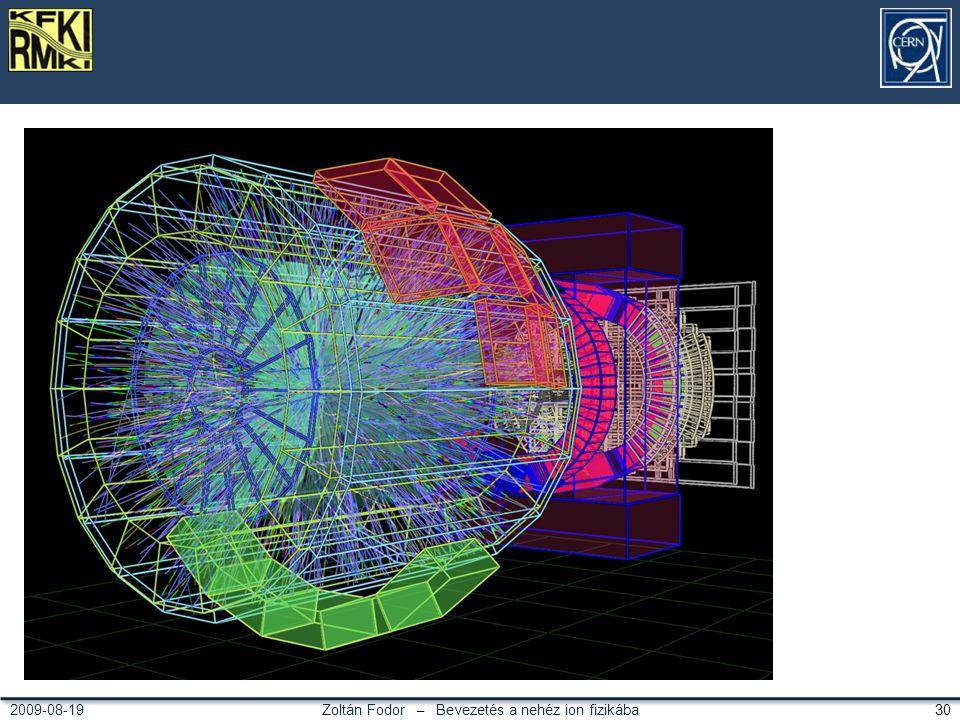 Zoltán Fodor – Bevezetés a nehéz ion fizikába 302009-08-19