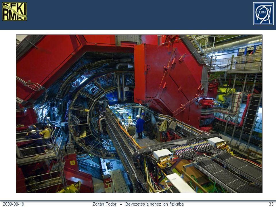 Zoltán Fodor – Bevezetés a nehéz ion fizikába 332009-08-19