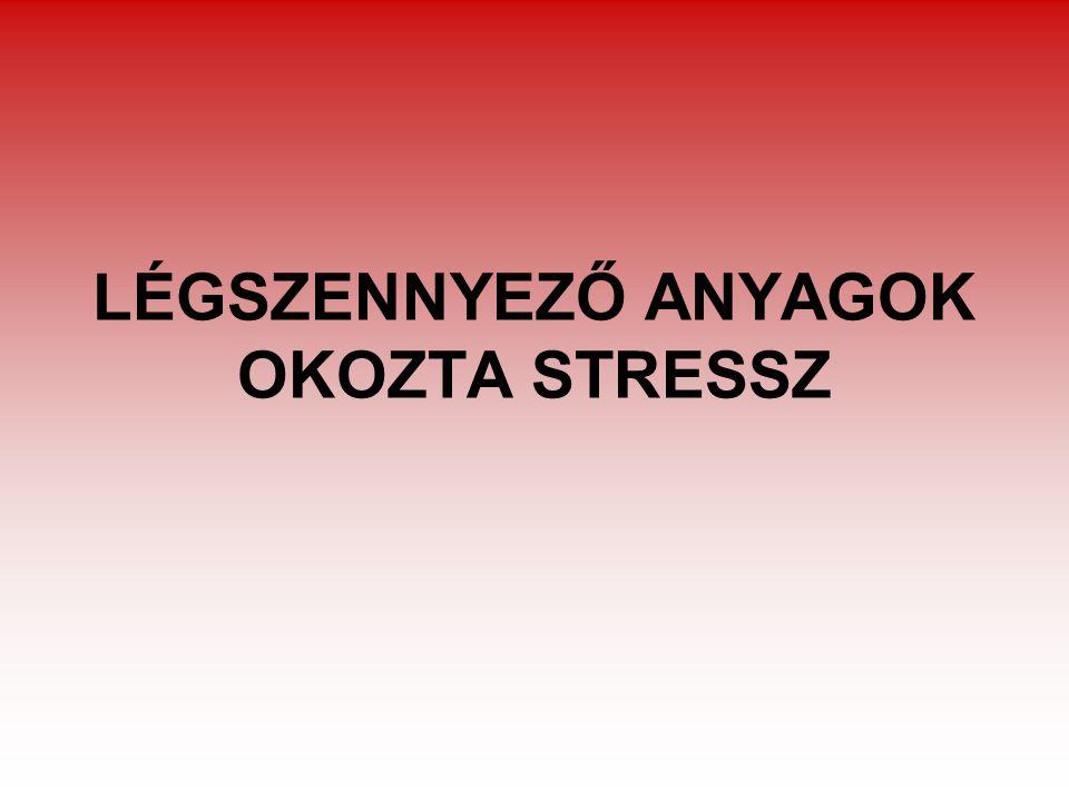LÉGSZENNYEZŐ ANYAGOK OKOZTA STRESSZ