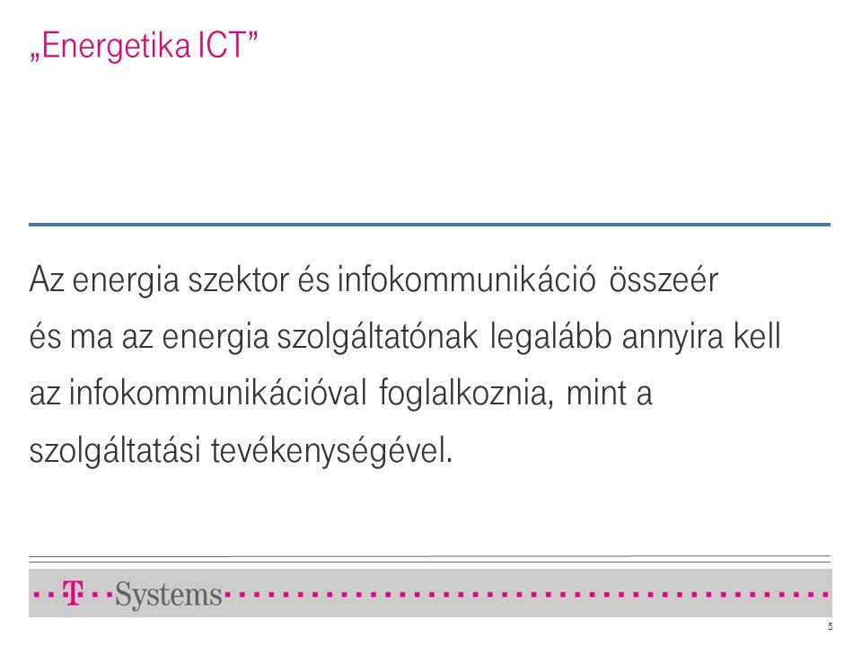 """5 """"Energetika ICT"""" Az energia szektor és infokommunikáció összeér és ma az energia szolgáltatónak legalább annyira kell az infokommunikációval foglalk"""