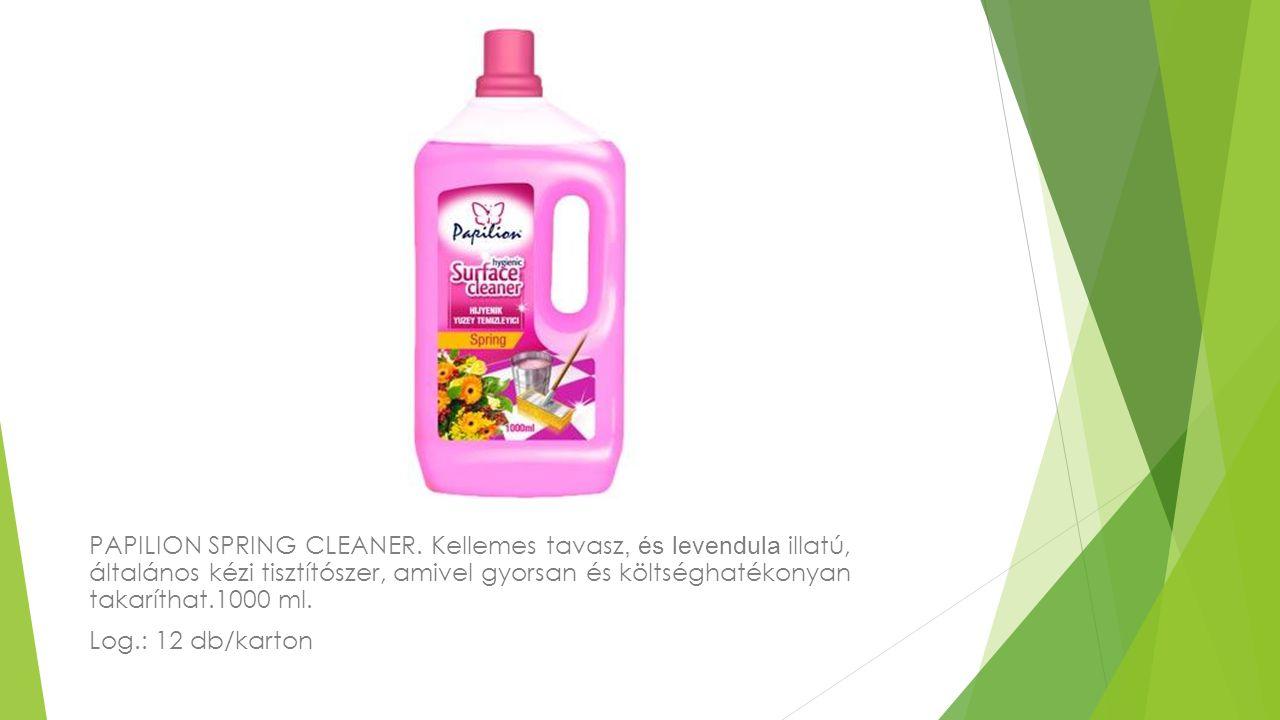 PAPILION SPRING CLEANER. Kellemes tavasz, és levendula illatú, általános kézi tisztítószer, amivel gyorsan és költséghatékonyan takaríthat.1000 ml. Lo