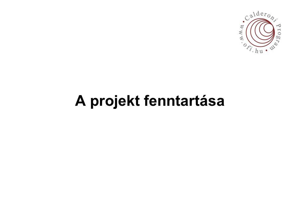 A projekt fenntartása