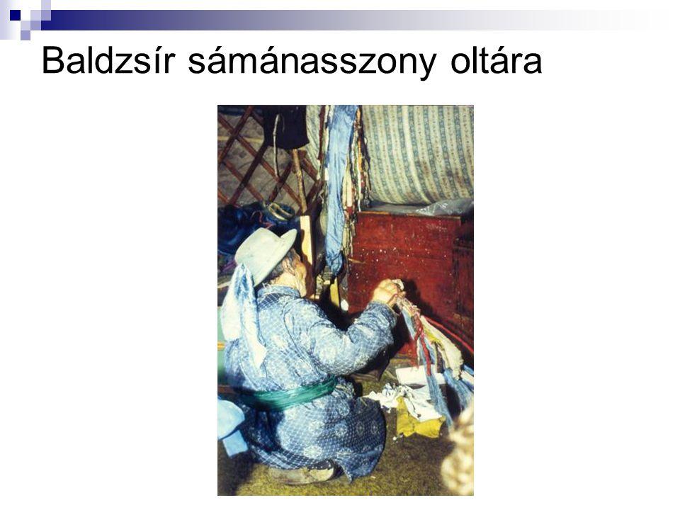 Baldzsír sámánasszony oltára