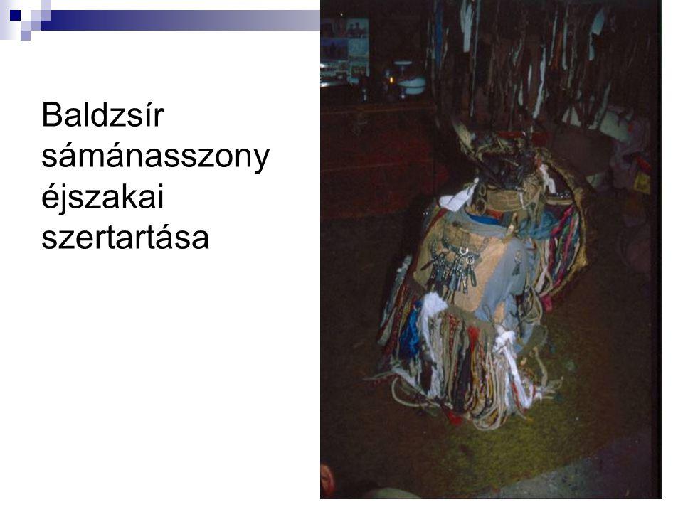 Baldzsír sámánasszony éjszakai szertartása