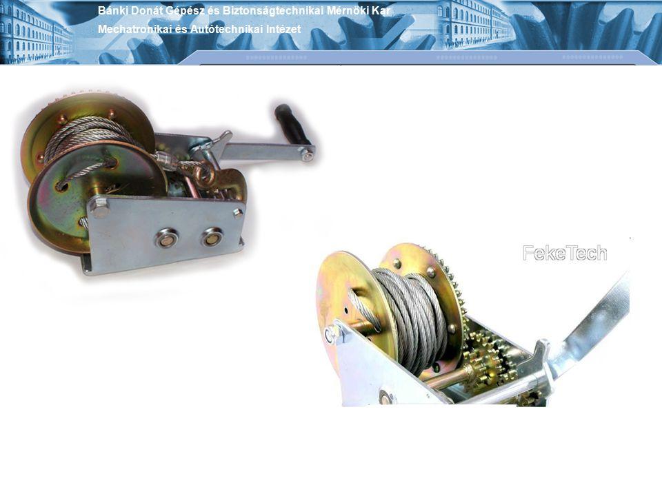 Bánki Donát Gépész és Biztonságtechnikai Mérnöki Kar Mechatronikai és Autótechnikai Intézet Kézi működtetésű teleszkópos kialakítású hidraulikus emelő nagyobb emelőmagasságot lehetővé tevő kézi működtetésű hidraulikus emelő látható