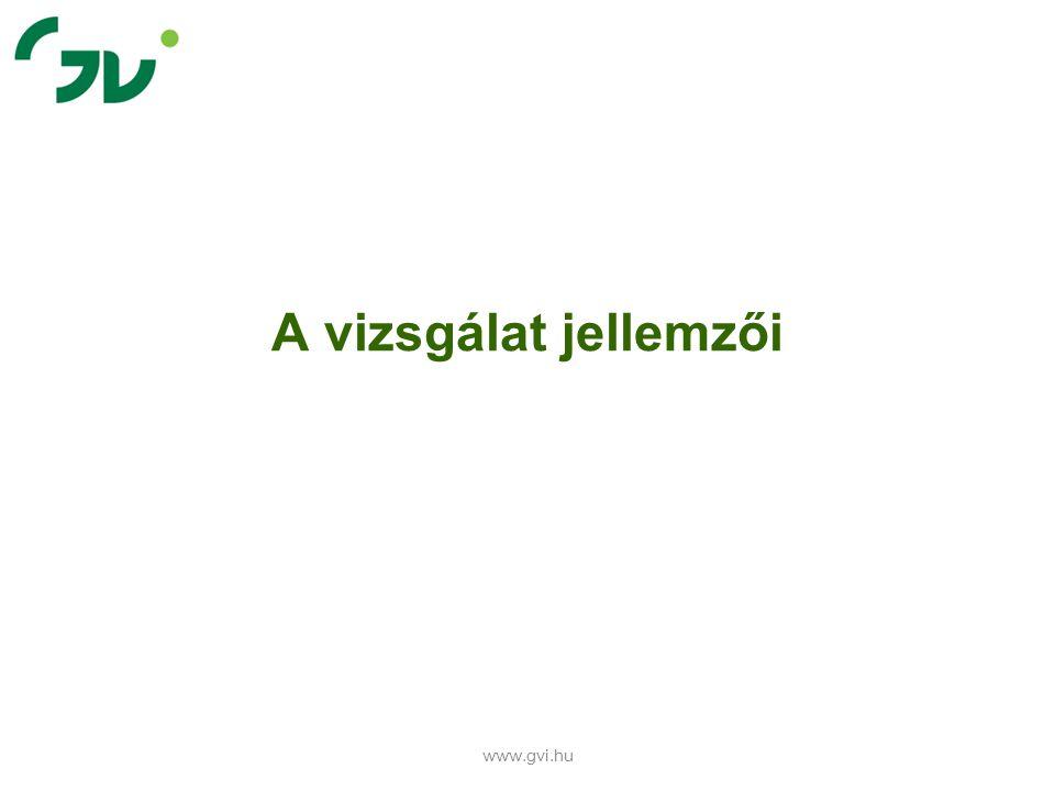 A vizsgálat jellemzői www.gvi.hu