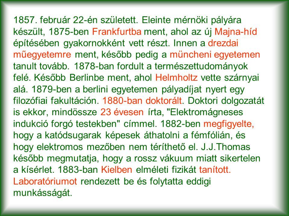 1857. február 22-én született. Eleinte mérnöki pályára készült, 1875-ben Frankfurtba ment, ahol az új Majna-híd építésében gyakornokként vett részt. I