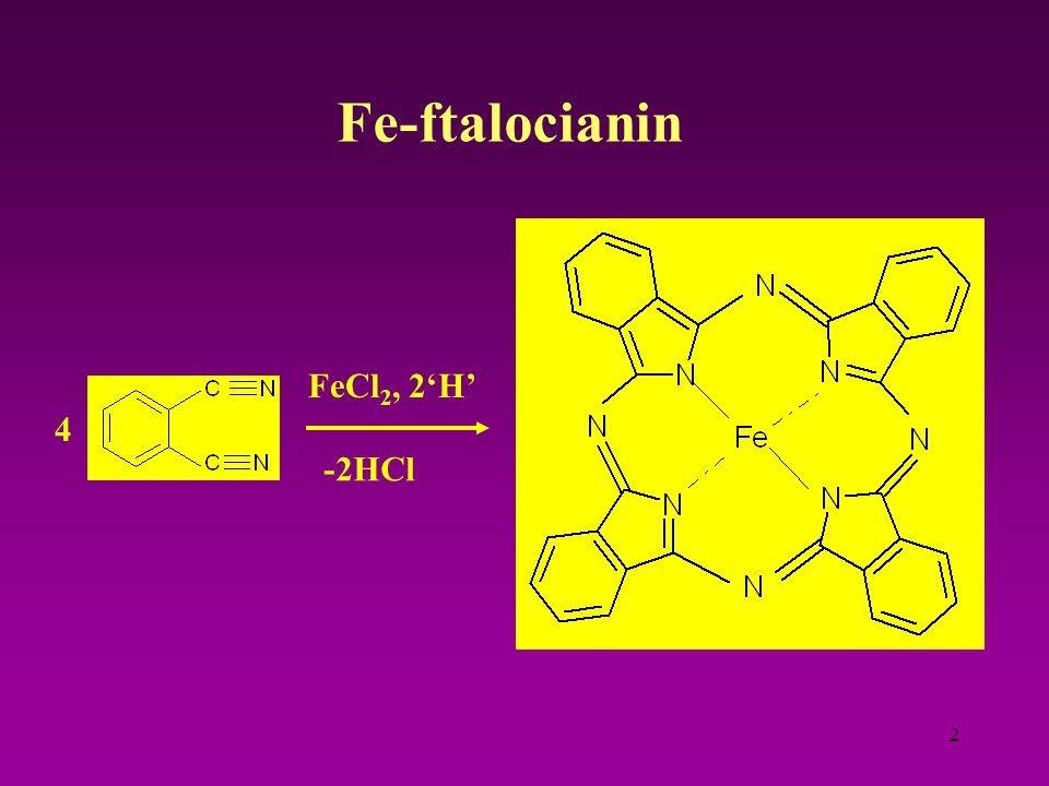 2 Fe-ftalocianin 4 FeCl 2, 2'H' -2HCl
