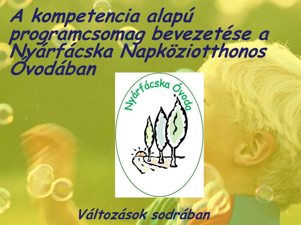 A kompetencia alapú programcsomag bevezetése a Nyárfácska Napköziotthonos Óvodában Változások sodrában 1