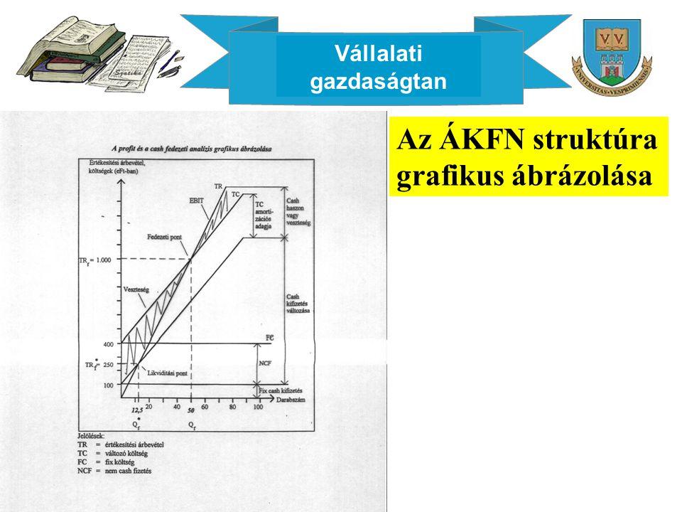 Vállalati gazdaságtan Az ÁKFN struktúra grafikus ábrázolása