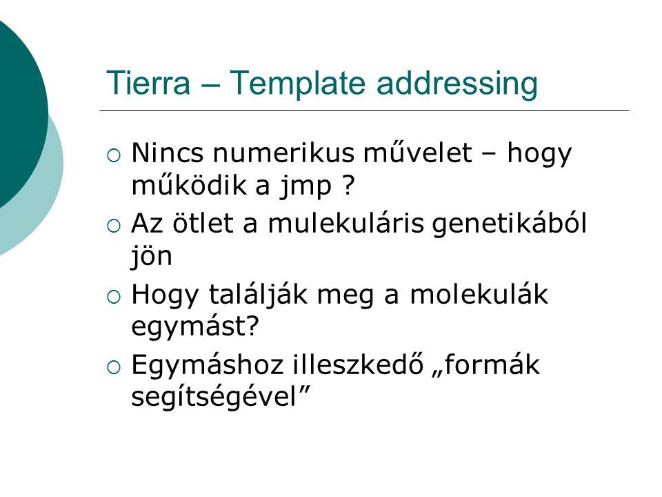 Tierra – Template addressing  Hogyan lehet megvalósítani ezt egy programozási nyelven.