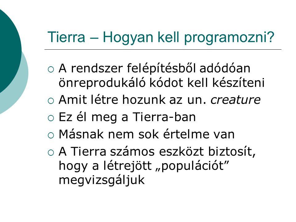 Tierra – Hogyan kell programozni.