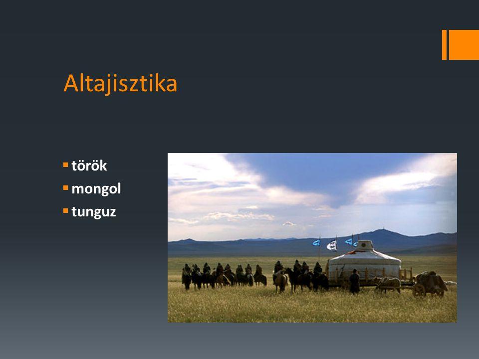 Altajisztika  török  mongol  tunguz