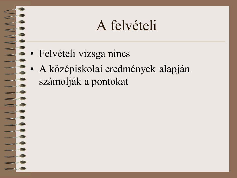 Az érettségi vizsga Kötelező tárgyak: magyar nyelv és irodalom, történelem, matematika, idegen nyelv + 1 választott tárgy (legalább)