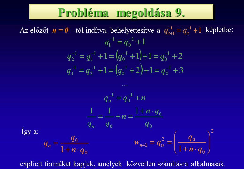 Probléma megoldása 9.
