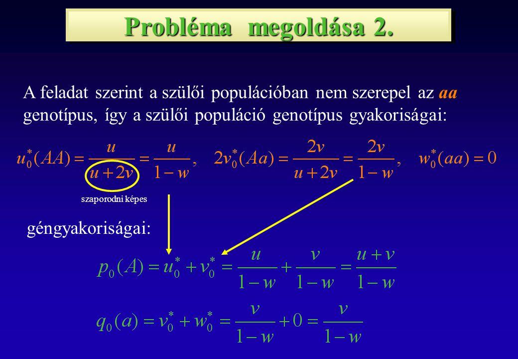 Probléma megoldása 3.Az 1.