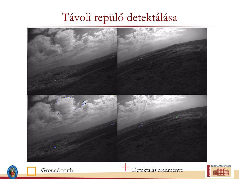 Távoli repülő detektálása Ground truth Detektálás eredménye